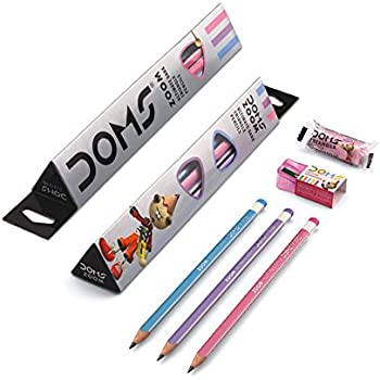 DOMS Zoom Ultimate Dark Triangle Pencils (Pack of 50 Pencils)
