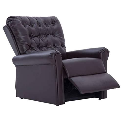 Tidyard Moderner Relaxsessel Senior Fernsehsessel verstellbar Einstellbare Fuß- und Rückenlehne,Liegesessel Sessel für große Personen Kunstleder
