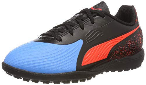 Puma One 19.4 TT Jr, Zapatillas de Fútbol Unisex Adulto, Azul (Bleu Azur-Red Blast Black), 38 EU