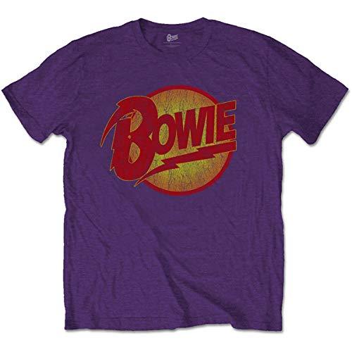 T-Shirt # Xxl Unisex Purple # Vintage Diamond Dogs Logo