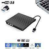 External CD DVD Drive, USB 3.0 Portable Ultra Slim CD DVD Drive Player Burner Writer Reader Rewriter, Optical...