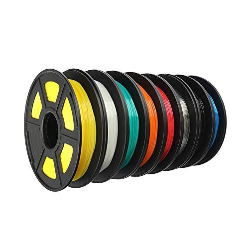 LJJ imprimante 3D Impression TPU Filament Souple et Flexible 3D Flex Matériel Filament 1.75mm Caneta Diferente Modélisation imprimante 6 kg / 8Pcs Accessoires