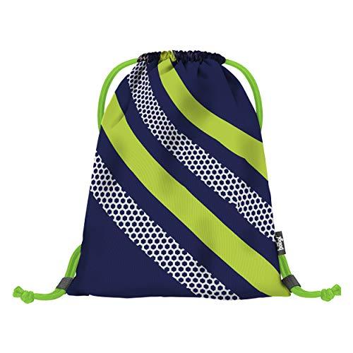 Baagl Turnbeutel für Junge, wasserdichte Schuhbeutel für Kinder, Schule und Kindergarten Sportbeutel, Sportrucksack, Gymsack (Neon)