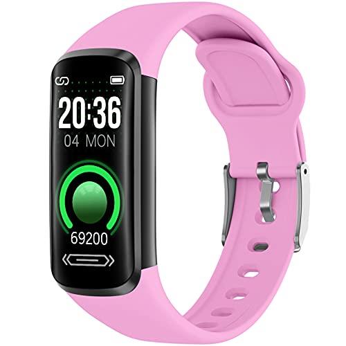 Pulsera Actividad Inteligente Fitness Tracker Pulsera Actividad con Cuenta Pasos y Calorias, Smartwatch Impermeable IP67 con Monitor de Sueño para Niños Mujeres Hombres
