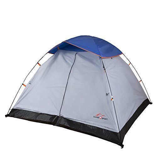 Suisse Sport 7 x 7-Feet Dome Tent with Rain Fly and Easy Setup (3 Person) by Exxel Outdoors, Inc.