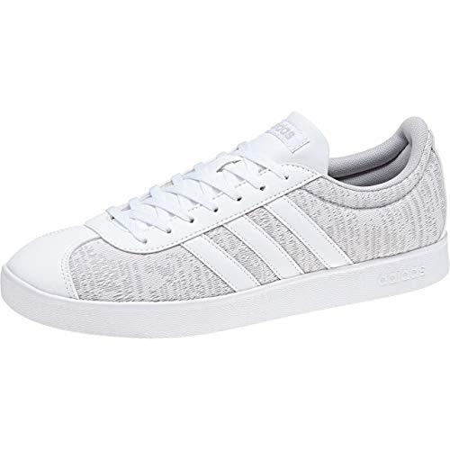 adidas VL Court 2.0, Zapatillas de Skateboard Hombre, Gris (Greone/Ftwwht/Gretwo 000), 40 EU