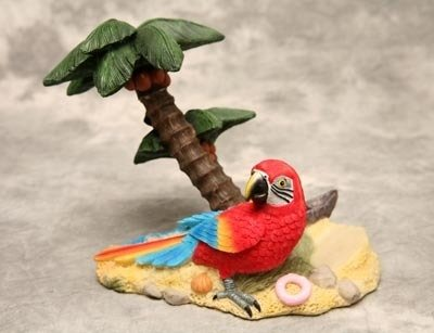 Parrot with Palm Tree Wine Bottle Holder
