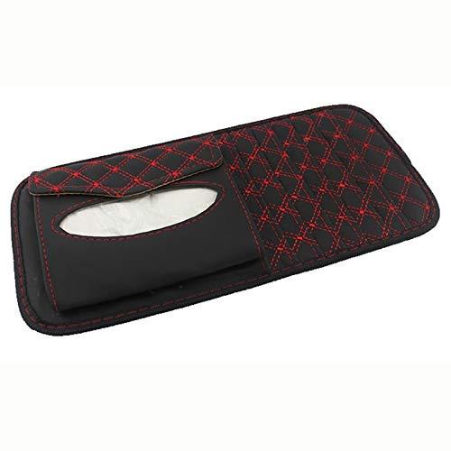 Auto organizer boot Auto Visor Carport Disc Compact Portemonnee Fiber Paper Case, voor Opslag Rack Opslag Clip Met Bril En Kaart Kleur2