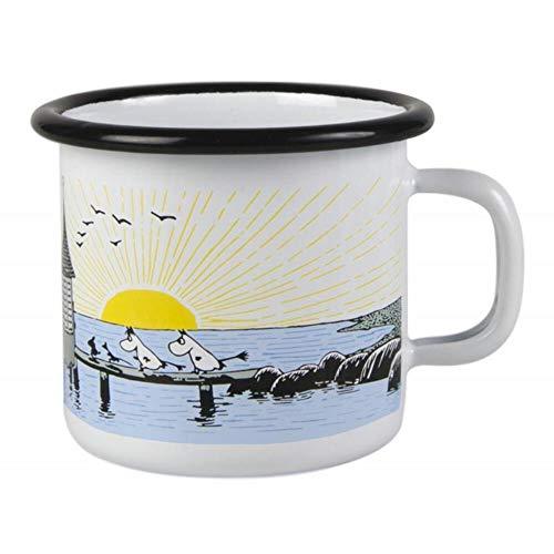 Muurla - Henkelbecher - Kaffeebecher - Becher - Emaille - Mumins - Mellow Wind - 250 ml