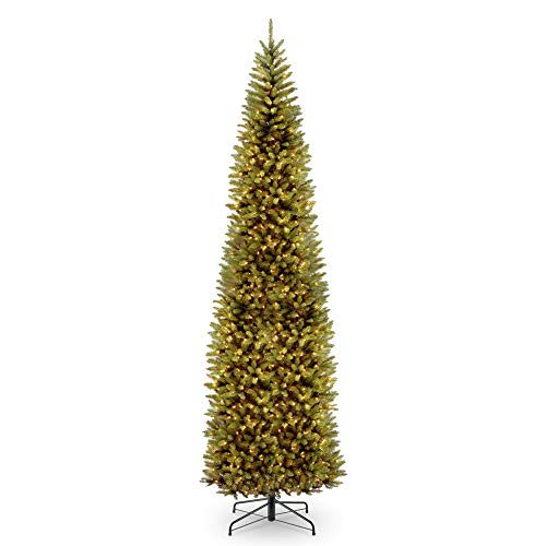 10' Pre-lit Kingswood Fir Pencil Artificial Christmas Tree – Clear Lights