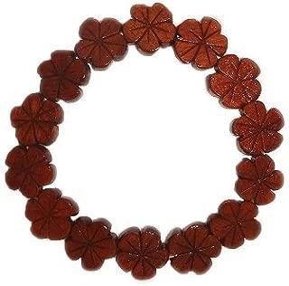 Hawaiian Plumeria Flower Koa Wood Bracelet