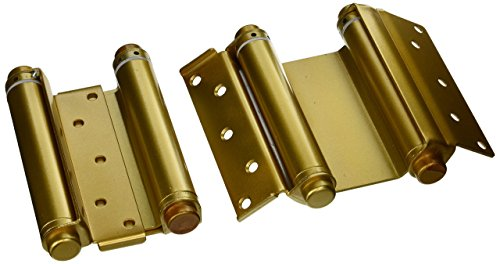 Ultra Hardware 6' Heavy Duty Brass Double Action Spring Hinges for Door (Set of 2)