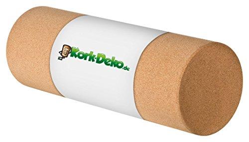 Faszienrolle aus Kork XL – Selbstmassage-Rolle für die Faszien – Fitnessrolle für Yoga Pilates Gymnastik Physiotherapie – Trainingsgerät zur Stärkung des Bindegewebes | 45 cm lang, Durchmesser 15 cm