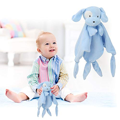 Toalla de seguridad para bebés, toalla reutilizable para apaciguar al bebé flexible para babero de bebé para un lindo juguete para niños de 0 a 3 años(Puppy)