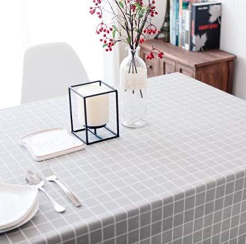 EDCV Woondecoratie Textiel Tafelkleed Linnen Landelijke Vierkante Tafelkleden Rechthoekige Eettafel Cover Salontafel Thee, grijze plaid