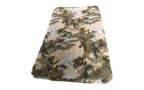 Vetbed -/ Drybed I Camouflage Tarnfarben grün-hellblau I 75 x 100 cm