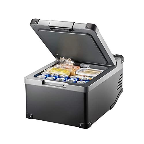 FDSZ Refrigerador de automóviles, refrigerador portátil 36L Congelador de compresores Mini refrigerador, Adecuado para Camiones, Furgonetas, Viajes, al Aire Libre