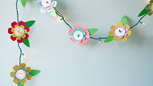 Cricut Crafts: Flower String Lights