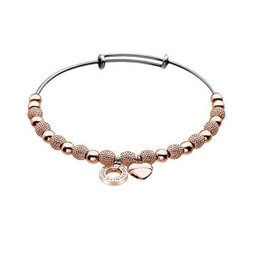Hot Diamonds EMOZIONI Rose Damen-Armreifen vergoldet DC098 Ula