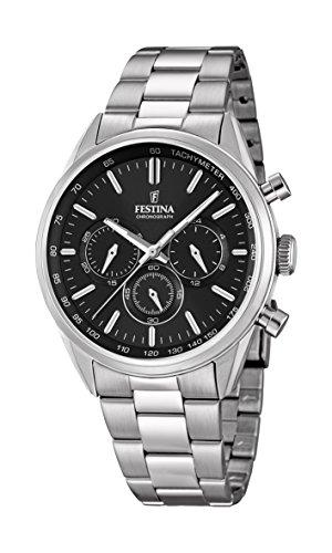 Festina Herren Chronograph Quarz Uhr mit Edelstahl Armband F16820/4