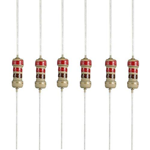 Seazoon 220 ohm Resistors 1/4w (0.25 Watt) ±5% Tolerance Carbon Film Fixed Single Resistor 220ohm-0.25w-Carbon