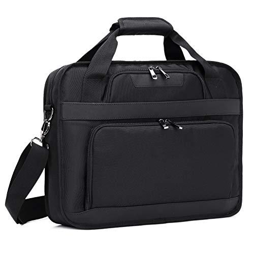 Estarer Laptop Shoulder Bag 15-15.6 inch Water-Resistant Business Laptop Bag for Business College Travel - Black