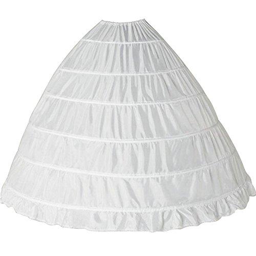Babyonline Damen Unterrock Reifrock Petticoat Crinoline für Hochzeitskleider Ballkleider Abendkleider Brautkleider One Size