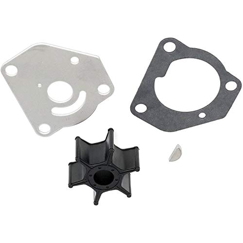 Wingogo 17400-92D01 Water Pump Impeller Repair Kit for 8HP 9.9HP Suzuki Outboards 2 Stroke DT8C DT9.9C Boat Motor Parts Replacement 17400-92D00 1988-1997 Sierra 18-3255