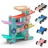 Edinber Juguete de pista de bola para niños, pista de coche de carreras con xilófono, bloques de construcción de coche de carril Juguete educativo temprano regalo de cumpleaños de año nuevo