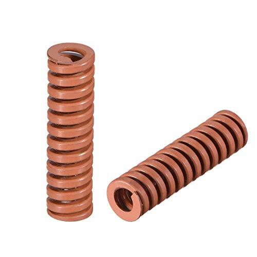 10 mm OD 35 mm lange Prägung Spirale, extra schwer, Kompressionsform für den Frühling, braun, 2 Stück