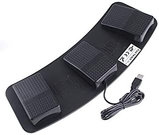 EVERGREAT PC USB Foot Control Keyboard Action Switch Pedal HID (Keyboards)