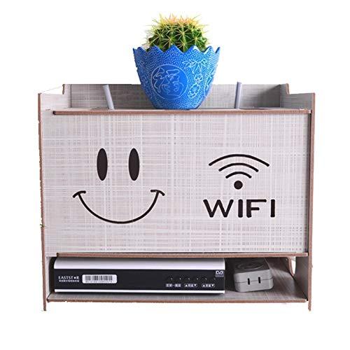 DHF Enrutador WiFi Creativo Caja de Almacenamiento multifunción, decoración Hogar, Sala de Estar, TV, gabinete Cable de alimentación, Caja de Acabado, Soporte for decodificador. (Color : White)