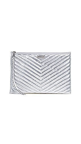 Technical weave Zip at top Tufted chevron pattern, Silver-tone hardware, Engraved brand lettering Length: 13.75in / 35cm Patch exterior pocket, Patch interior pockets, Card slots at interior