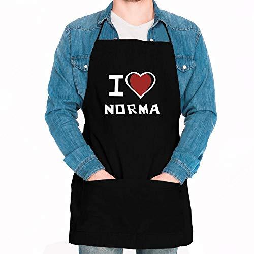 Idakoos I Love Norma Bicolor Heart Apron