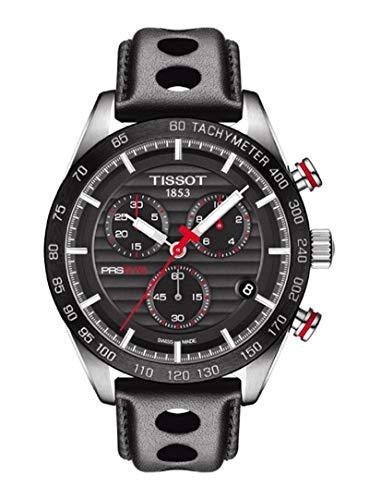 Tissot T100.417.16.051.00 PRS 516 cronógrafo reloj de esfera negra para hombres