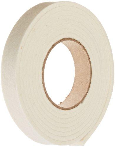 "Grade F5 Pressed Wool Felt Strip, White, Meets SAE J314, 1/2"" Thickness, 2"" Width, 50' Length"