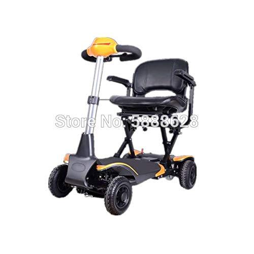 YIONGA CAIJINJIN eléctrica Silla de Ruedas Scooter de Silla de Silla de Ruedas eléctrica Plegable Elegante de One-Tecnología Ancianos y discapacitados.Puede abordar