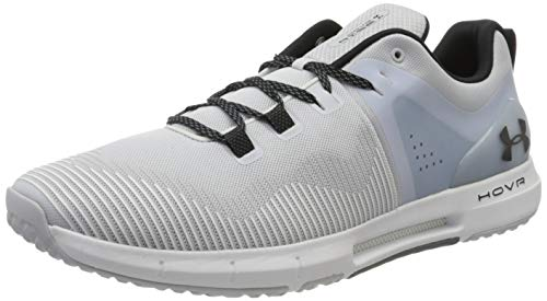 Under Armour UA HOVR Rise, Zapatillas Deportivas para Interior Hombre, Gris (Halo Gray/White/Black), 49.5 EU