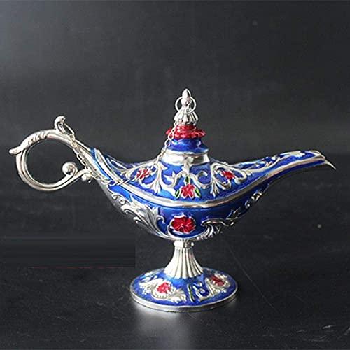 Adorno de Estatua Escultura Estatua Retro Aladino Lámpara mágica Aleación de estaño Rusa Mediana Decoración del hogar Decoración del hogar