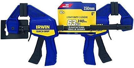 IRWIN T5462EL7 schroefklem van Quick-Grip Irwin, 150 mm lang (6 inch), verpakking van 2 stuks