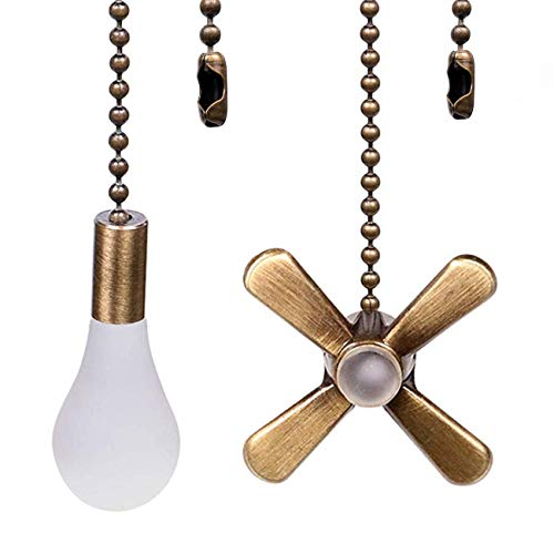 Ceiling Fan Pull Chains 13.6 Inches Fan Pulls 2 Pcs Ceiling Fan Pull Cord Fan Pull Set for Ceiling Fan Light and Lamps