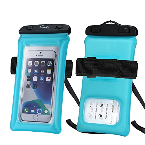 PSHYX TPU Floating Waterproof Phone Case,Cell Phone Dry Bag, Universal Waterproof Phone Pouch with...