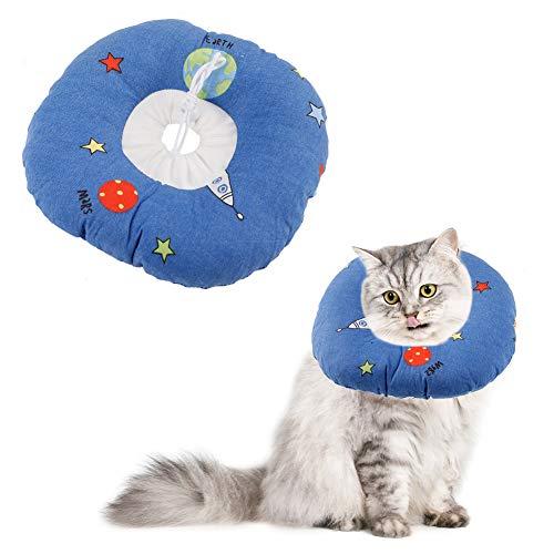 Thursday April Mascota Collar Cono de Recuperación Suave para Mascotas con Borde Ajustable Casco para Mascotas para Protección contra la Mordida(S)