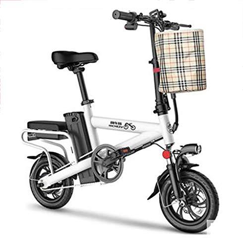 TX Mini Scooter Elettrico Pieghevole Piccolo Scooter Interruttore di 3 Modelli Batteria al Litio Rimovibile 36v 85km, Ruota da 12 Pollici