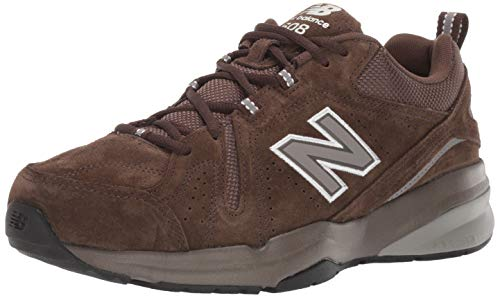 New Balance Men's 608v5 Casual Comfort Cross Trainer Shoe, Chocolate Brown/White, 10.5 W US