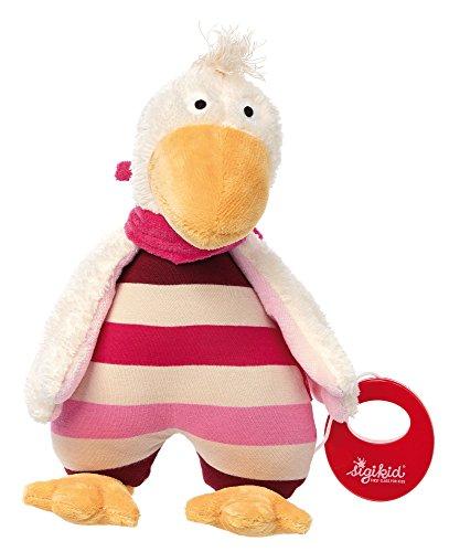 sigikid, Mädchen, Spieluhr, Stofftier Gans, Gisella Goose, Rosa/Pink, 41414
