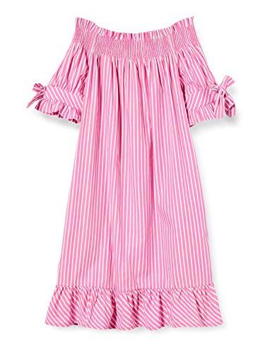Scotch & Soda R´Belle Mädchen Schulterfreies Streifen Kleid, Mehrfarbig (Combo T 0599), 176 (Herstellergröße: 16)