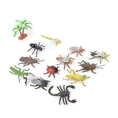 YeahiBaby Falso bichos e Insectos Juguetes - Insectos de Goma Realista Surtidos - Paquete de 12