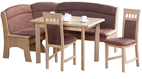 Eckbankgruppen Buche Eckbank Tisch 2 Stühle - (2035)
