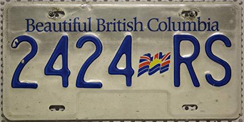 KANADA_Auswahl_von_Fahrzeugschildern : Beautiful British Columbia Nummernschild, Original Autoschild Motiv-Kennzeichen aus Kanada, Canada License Plate, Metallschild KFZ Schild